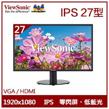 【27型】ViewSonic VA2719 IPS液晶顯示器(VA2719-SH)