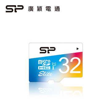 【32G / U1】廣穎 Silicon-Power Elite MicroSD彩色記憶卡(SP032GBSTHBU1V20)