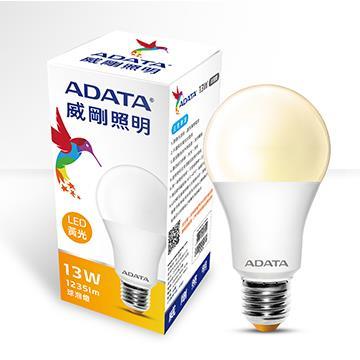 ADATA 威剛13W高效能LED球泡燈-黃光(AL-BUA19C1-13W30C)