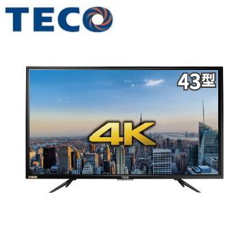 東元43型4K液晶顯示器+視訊盒(TL43U2TRE+TS1315TRA)