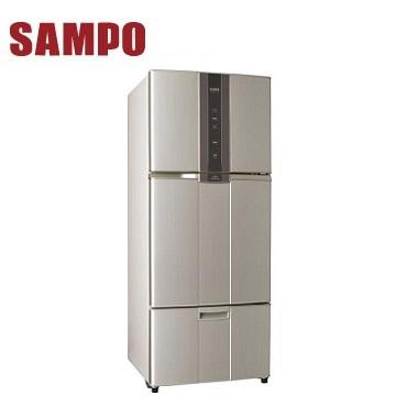 【福利品】展-聲寶 580公升三門變頻冰箱(SR-A58DV(R6)紫璨銀)