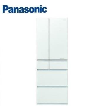 【福利品】展-Panasonic 500公升六門變頻玻璃冰箱(NR-F504HX-W1(翡翠白))