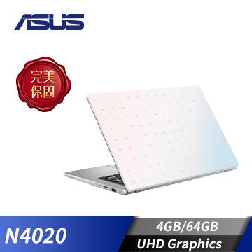 ASUS華碩 Laptop 筆記型電腦 夢幻白(N4020/4GB/64GB)(E410MA-0111WN4020)