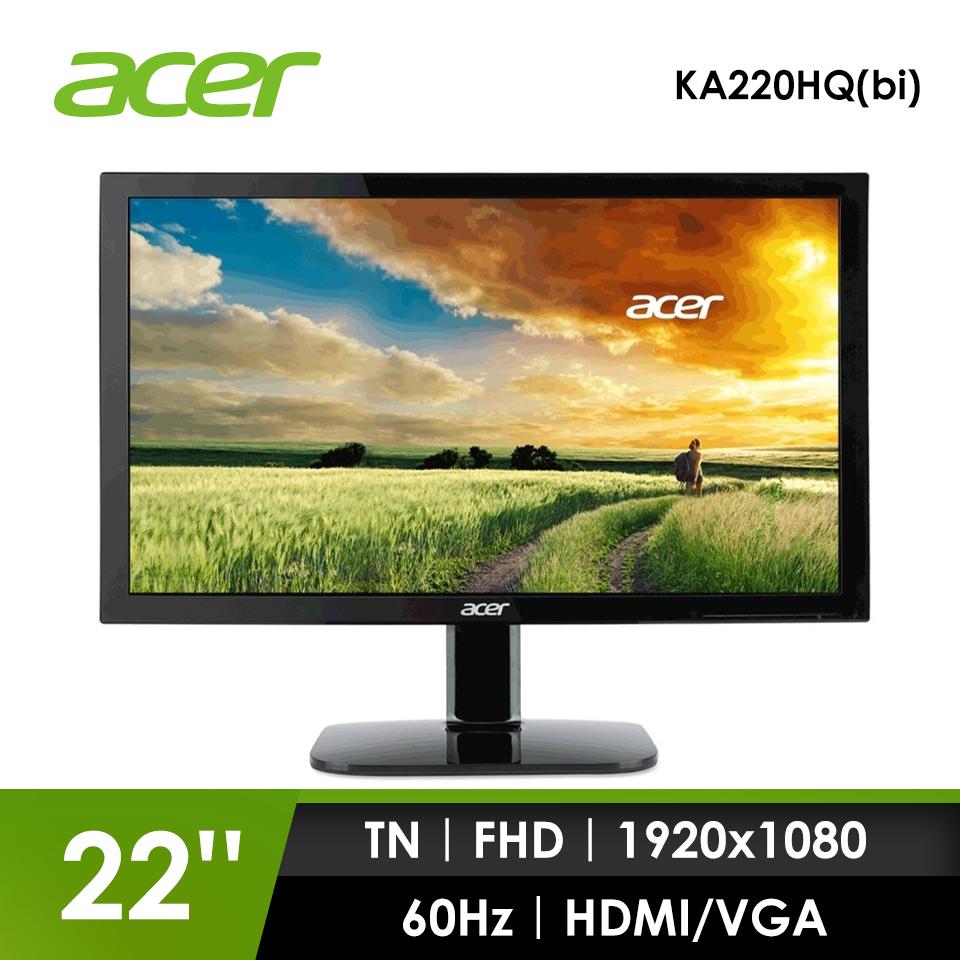 【福利品】宏碁ACER 22型 液晶顯示器(KA220HQ(bi))