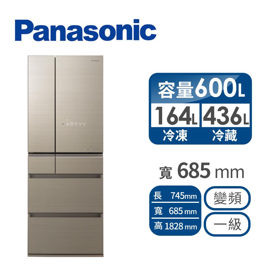 (展示品)Panasonic 600公升六門變頻玻璃冰箱(NR-F606HX-N1(翡翠金))